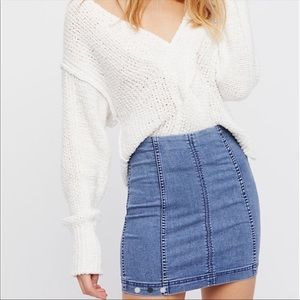 Free People Modern Femme Mini Skirt